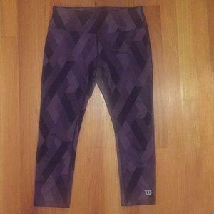 Wilson Tennis Women's purple print yoga tights